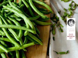 Salade de haricots extra fins, abricots et casette du Morvan