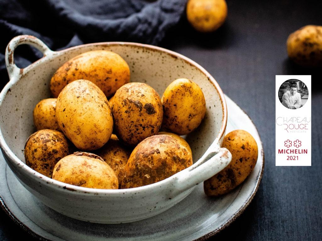 Suprême de volailles de la Ferme de la Guyotte en croûte de pommes de terre