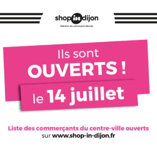 14 juillet : la liste des commerçants ouverts